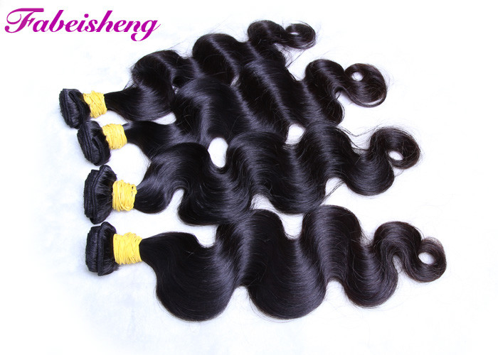 Brazilian 8A Virgin Hair Extension Body Wave , Natural Black Virgin Brazilian Hair Bundles